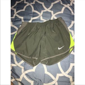 NIKE DRI-FIT Sage & Neon Yellow Shorts